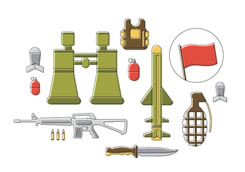 Free Army Vector Icons - бесплатный vector #379403