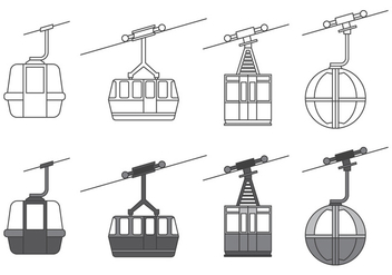 Cable car icons - vector #379413 gratis