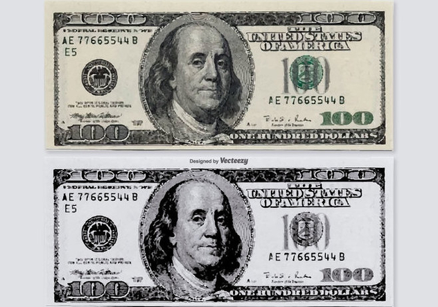 Hundred Dollar Vector Bills - Free vector #379453