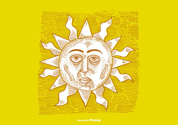 SUNSHINE-LINE DRAWING - vector gratuit #379493