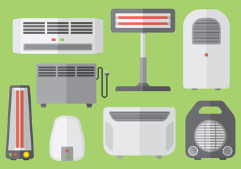 Free heater icons vector - бесплатный vector #379513