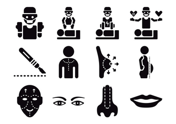 Plastic Surgery Icons - vector #379523 gratis