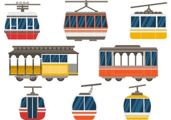 Free Cable Car Vector - vector gratuit #379543