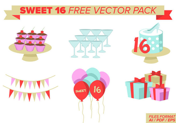 Sweet 16 Free Vector Pack - бесплатный vector #379573