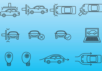 Car Test Icons - vector gratuit #379603