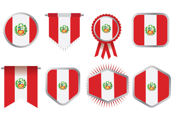 Free Peru Flag Icons Vector - бесплатный vector #379613