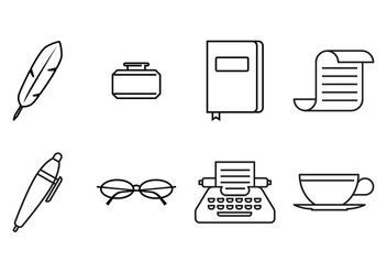 Writer Line Icon - Free vector #379653
