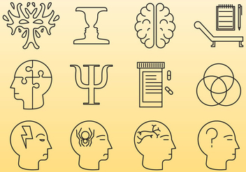 Psychology Line Icons - Kostenloses vector #379693
