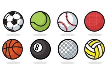 Free Sport Ball Icons Vector - vector gratuit #379773