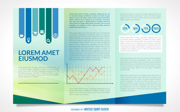 Business brochure mockup - Free vector #380053