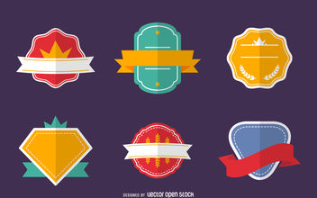 Label badge set - Free vector #380063