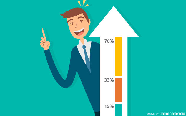 Business growth success illustration - Free vector #380133