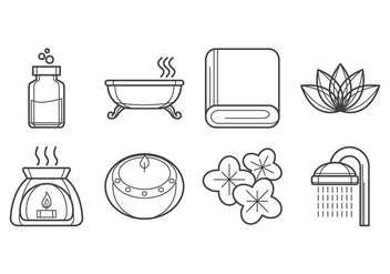Free Spa Icon Vector - vector gratuit #380223