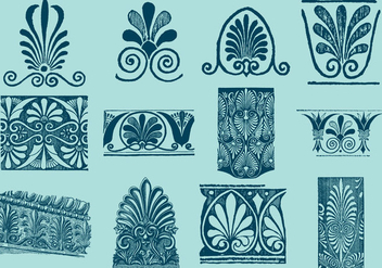Greek Decorative Motifs - vector gratuit #380283