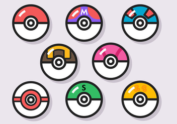 Pokemon Ball Vector - vector gratuit #380313