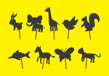 Animal Shadow Puppet Vectors - vector gratuit #380323