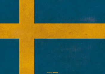 Grunge Flag of Sweden - Free vector #380403