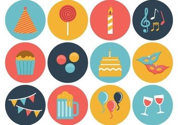 Free Birthday Icons Vector - Free vector #380413