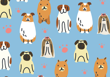 Dogs Pattern - vector gratuit #380433