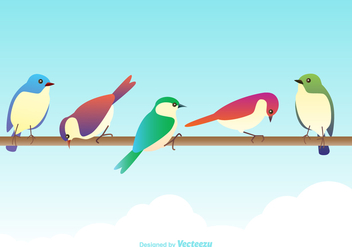 Free Vector Colorful Birds - бесплатный vector #380453