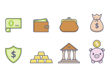 Free Money Icons - vector #380523 gratis