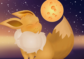 Evee Pokemon Vector - бесплатный vector #380563