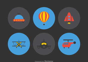 Free Aviation Vector Icons - бесплатный vector #380673