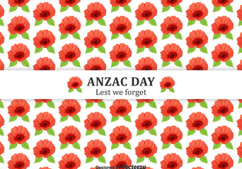 Free Anzac Day Poppies Vector Background - Kostenloses vector #380683