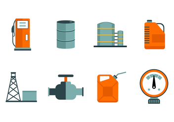 Free Oil and Petrol Industry Icon Vectors - vector gratuit #380713