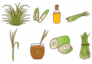 Lemongrass Icon Set - vector #380723 gratis