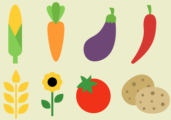 Free Vegetables Vector - vector #380763 gratis