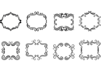Set Of Cartouche Scrollwork Vectors - vector #380803 gratis