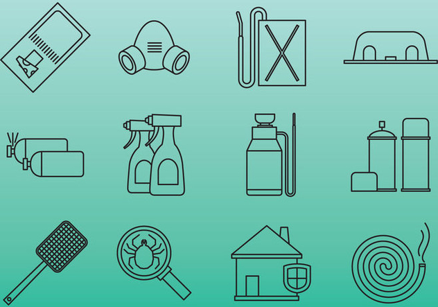 Pest Control Tool Icons - vector gratuit #380863