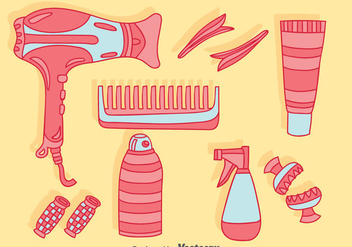 Hair Accessories Collection Vector - vector gratuit #380883