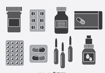 Medicine Box Vector Set - бесплатный vector #380983