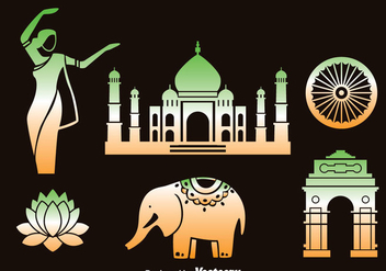 India Element Vector Set - бесплатный vector #381153