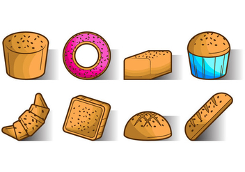 Free Raisins Bread Icon Vector - vector gratuit #381203