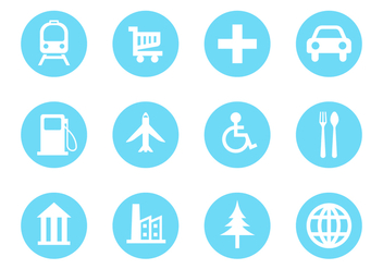 Free Map Legend and Sign Icon Vector - Free vector #381223