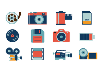 Free Camera Icon Vector - vector gratuit #381303