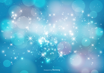 Abstract Bokeh and Sparkles Background - vector gratuit #381383