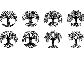 Set Of Celtic Tree Vector - vector #381413 gratis