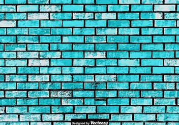Abstract Grunge Blue Brick Wall Texture - vector gratuit #381453