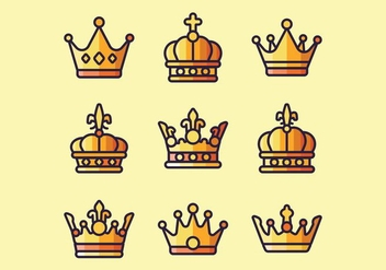 Crown Logo Vectors - Free vector #381553