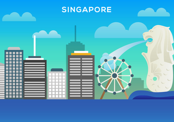 Free Singapore Illustration Vector - Free vector #381583