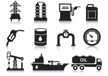 Free Oil Icons Vector - бесплатный vector #381653