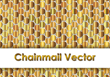 Gold Chainmail Background - Free vector #381693