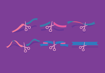 Ribbon Cutting Vector - vector gratuit #381713