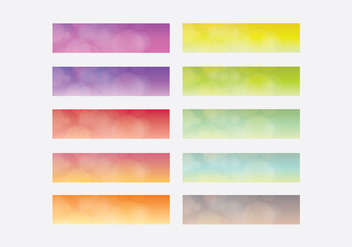 Webkit Linear Gradient Top Template Set - Free vector #381773