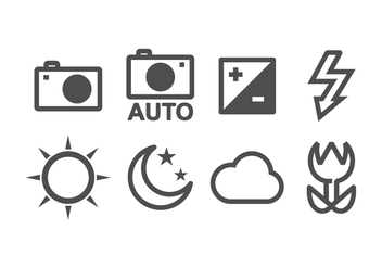 Free Camera Icon Set - vector #381903 gratis