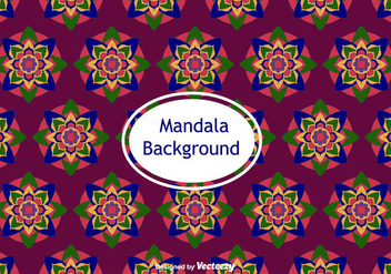 Mandala Background Vector - vector gratuit #382083